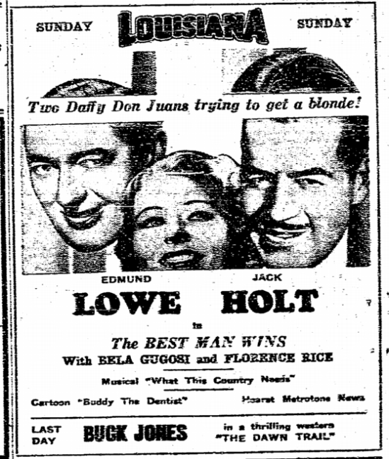 Best Man Wins, State Times Advocate, March 9, 1935 2