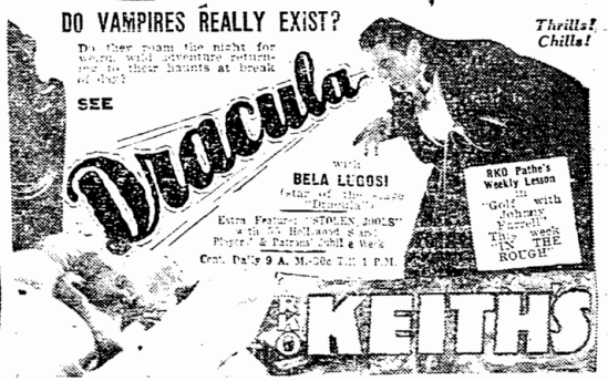 Dracula, Boston Herald, April 5, 1931