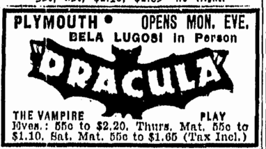 Dracula, Boston Herald, May 1, 1943 2