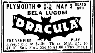 Dracula, Boston Traveler, April 29, 1943