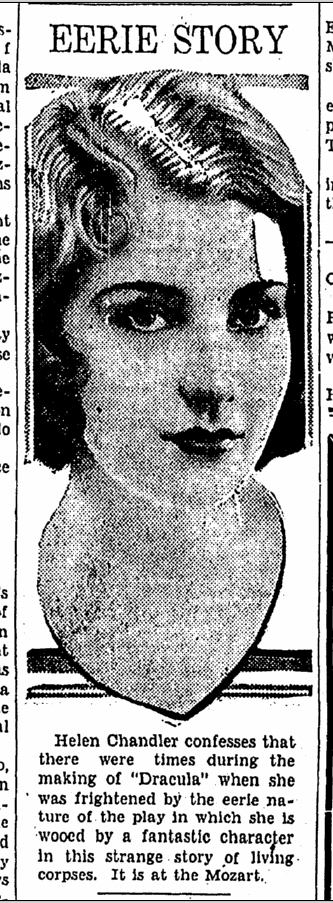 Dracula, Canton Repository, November 17, 1931