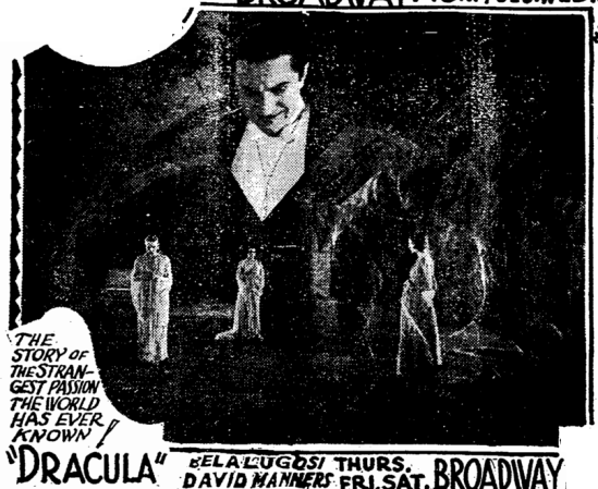 Dracula, Charlotte Observer, March 8, 1931 2