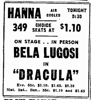 Dracula, Cleveland Plain Dealer, June 11, 1943