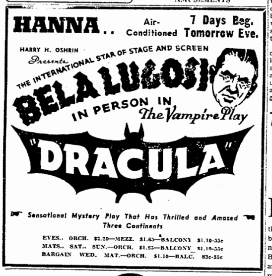 Dracula, Cleveland Plain Dealer, June 6, 1943 2