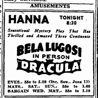 Dracula, Cleveland Plain Dealer, June 7, 1943 2