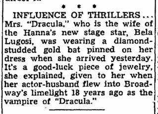 Dracula, Cleveland Plain Dealer, June 7, 1943