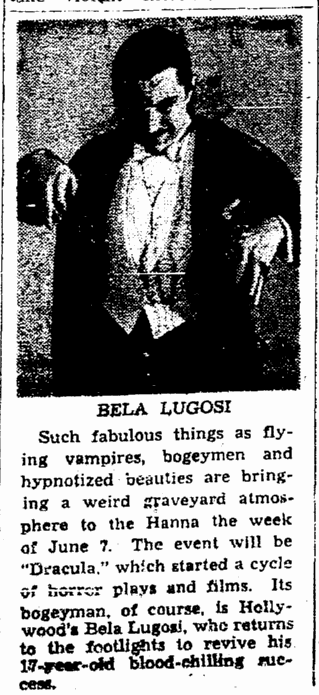 Dracula, Cleveland Plain Dealer, May 30, 1943
