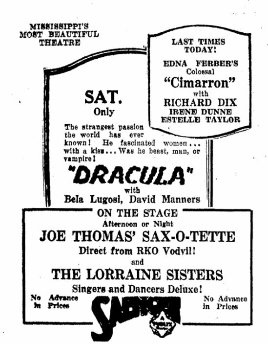 Dracula, Daily Herald, February 13, 1931