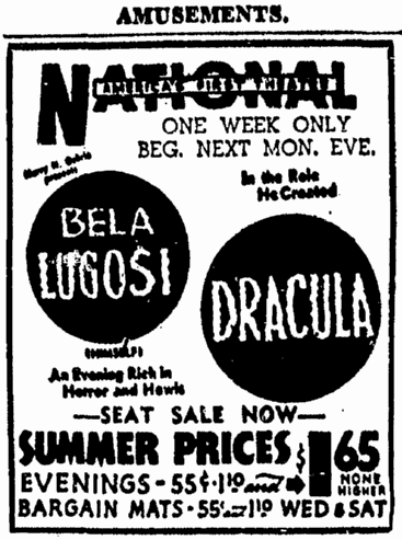 Dracula, Evening Star Washington, June 14, 1943