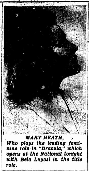 Dracula, Evening Star Washington, June 21, 1943