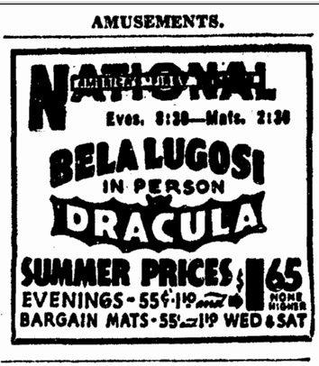 Dracula, Evening Star Washington, June 22, 1943 2
