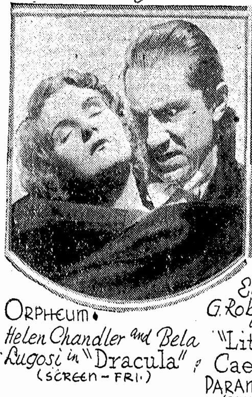 Dracula, Omaha World Herald, February 22, 1931