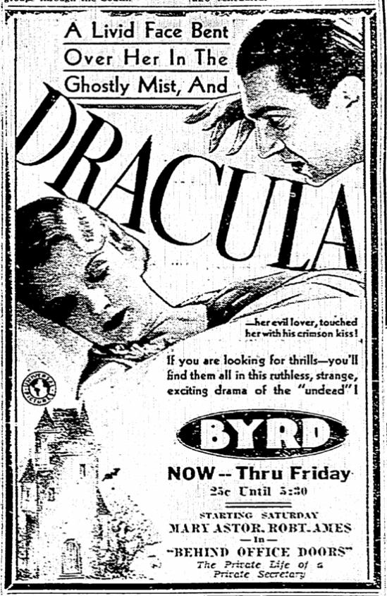 Dracula, Richmond Times Dispatch, April 12, 1931