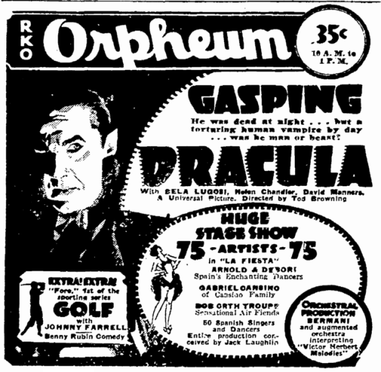 Dracula, San Francisco Chronicle, March 30, 1931 2