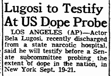 Drugs, Boston Sunday Adveriser, August 28, 1955