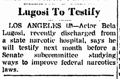 Drugs, Trenton Evening Times, August 18, 1955