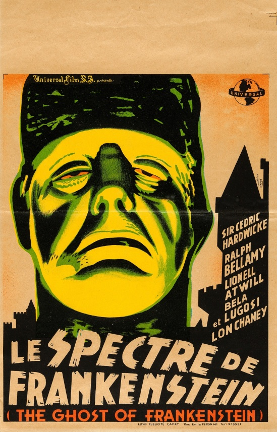 The Ghost of Frankenstein Belgium 10.75 X 17 poster
