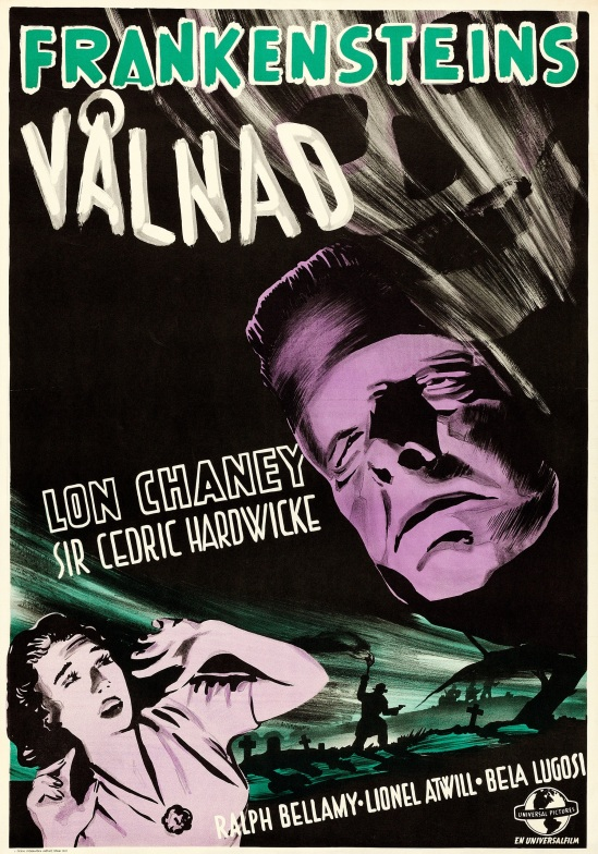 The Ghost of Frankenstein Swedish one sheet