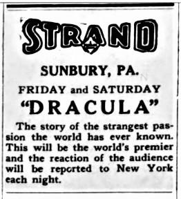 Dracula, Lewisburg Journal (Pennsylvania), February 5, 1931